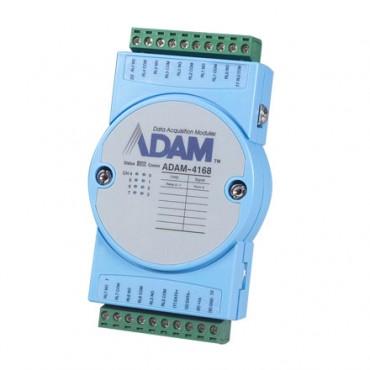 Robustný RS-485 I/O modul ADAM-4168, 8 relé výstupov, Modbus/RTU