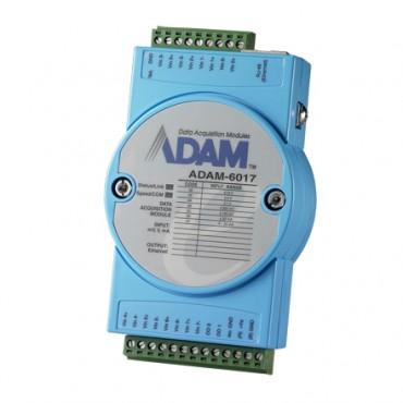 Ethernetový I/O modul ADAM-6017, 8 izolovaných analógových vstupov, 2 digitálne výstupy, Modbus/TCP
