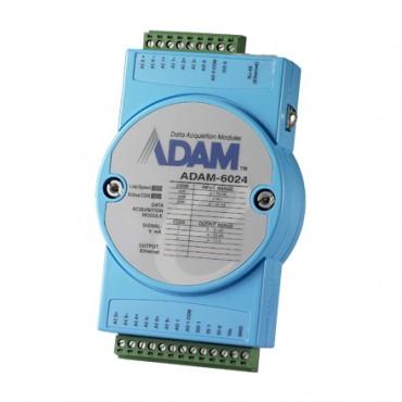 Ethernetový I/O modul ADAM-6024, 12 izolovaných univerzálnych vstupov/výstupov, Modbus/TCP