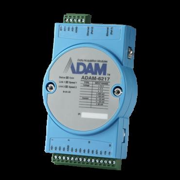 Ethernetový Daisy-chain I/O modul ADAM-6217, 8 izolovaných analógových vstupov, Modbus/TCP