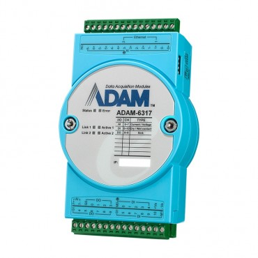 OPC UA Ethernet I/O modul ADAM-6317 s 8xAI, 10xDI a 11xDO