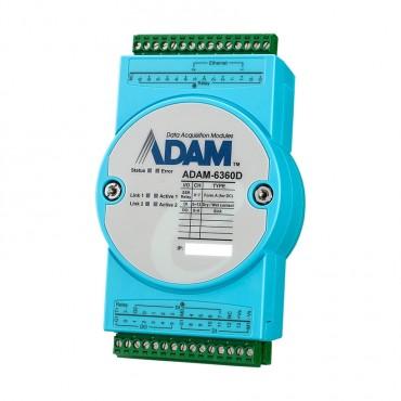 OPC UA Ethernet I/O modul ADAM-6360D s 8x relé (SSR), 14xDI a 6xDO