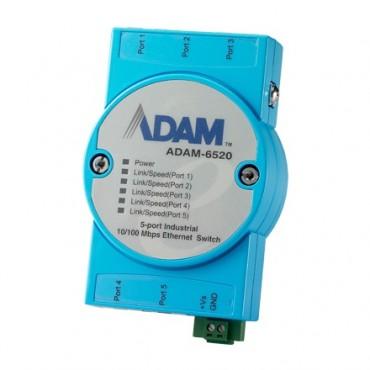 5-portový priemyselný switch ADAM-6520 s EFT/ESD ochranou