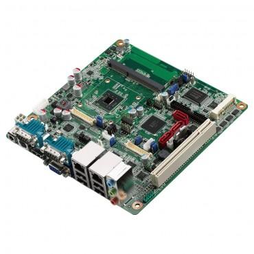 Priemyselná Mini-ITX základná doska AIMB-214 s Intel Atom N2600/D2550, CRT/HDMI/2xLVDS, 6xCOM, 2xLAN