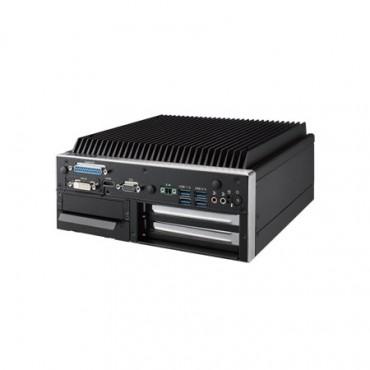 "Bezventilátorové PC ARK-3520P s 6.gen. Intel Core i3/i5/i7, 1xVGA, 1xHDMI, 1xVoliteľný obrazový výstup, 2xGbE, 8xUSB, 8xCOM, Audio, 1x2,5"" SATA, 2xF/S MiniPCIe (SIM, mSATA), 1x M.2-E, 1x iDoor, 2x PCI"