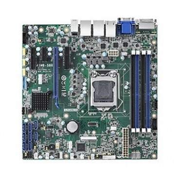 Priemyselná serverová MicroATX zákl. doska ASMB-586 s LGA 1151, 8.gen. Intel Core/Xeon E, DDR4, 4xPCIe, 13xUSB, 8xSATA3, 4x/2xLAN, IPMI