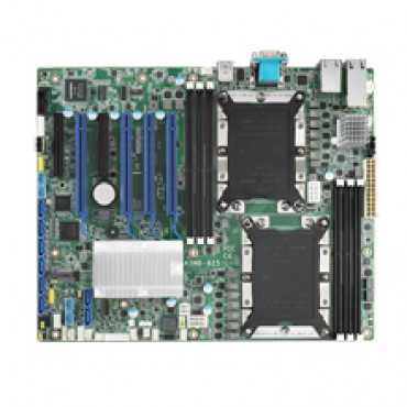Priemyselná serverová ATX zákl. doska ASMB-825 s Dual LGA3647-P0, Intel Xeon Scalable, DDR4, 6xPCIe, 11xUSB, 8xSATA3, 1xM.2, 4xLAN, IPMI