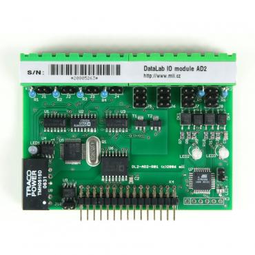 DataLab DL-AD2 - modul analógových vstupov/výstupov a digitálnych vstupov/výstupov