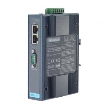 Sériový server 1xRS232/422/485 DB9 2xLAN RJ45 EKI-1521CI izolovaný s rozšírenými pracovnými teplotami
