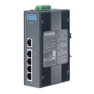 5-portový priemyselný PoE switch EKI-2525PA s napájaním 24/48VDC