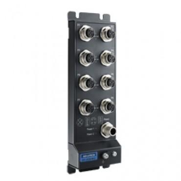 8-portový priemyselný switch EKI-2528I-M12 s IP67, M12 konektormi a rozšírenými pracovnými teplotami