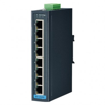 8-portový priemyselný switch EKI-2528I s rozšírenými pracovnými teplotami