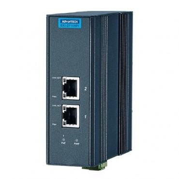 IEEE 802.3af/at gigabitový priemyselný PoE Injector EKI-2711HPI s 1xGE a rozšírenými pracovnými teplotami