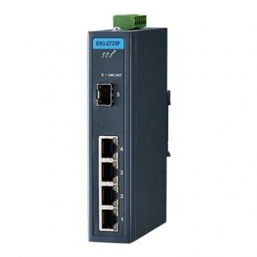5-portový gigabitový priemyselný switch EKI-2725F s 1xSFP