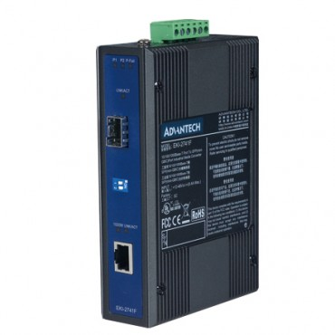 Priemyselný prevodník 1x10/100/1000 RJ45 na 1x1000 SFP optický konektor EKI-2741F