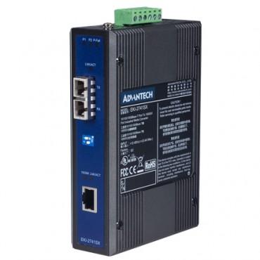 Priemyselný prevodník 1x10/100/1000 RJ45 na 1x1000 multi-mode SC optický konektor EKI-2741SXI s rozšírenými pracovnými teplotami