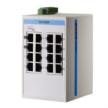 16-portový ProView switch EKI-5526I s rozšírenými pracovnými teplotami