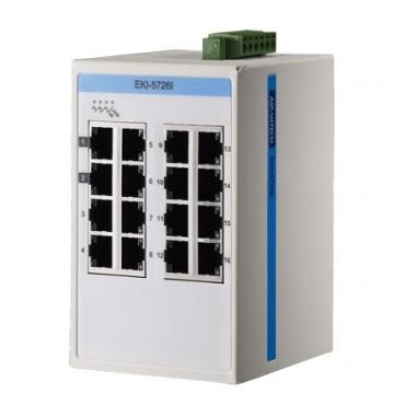 16-portový gigabitový ProView switch EKI-5726I s rozšírenými pracovnými teplotami