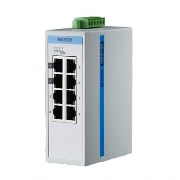 8-portový gigabitový ProView switch EKI-5728I s rozšírenými pracovnými teplotami