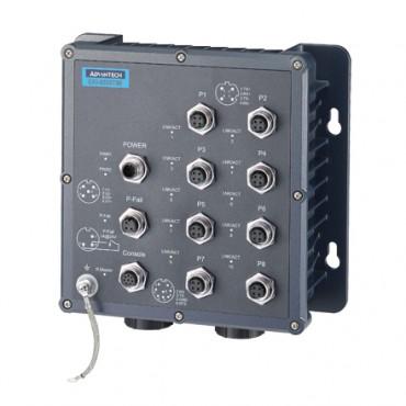 8-portový EN50155 priemyselný manažovateľný switch EKI-6559TMI s 2 optickými konektormi a rozšírenými pracovnými teplotami
