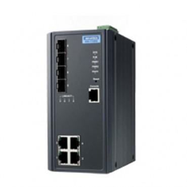 Priemyselný gigabitový manažovateľný switch EKI-7708G-2FI s 4xGE, 4xSFP a rozšírenými pracovnými teplotami