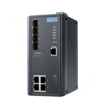 8-portový gigabitový manažovateľný PoE priemyselný switch EKI-7708G-4FP s 4xGE, 4xSFP