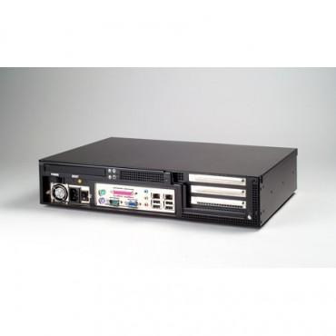 """2U priemyselná skrinka do 19"""" racku IPC-603MB s I/O na prednom panely"""