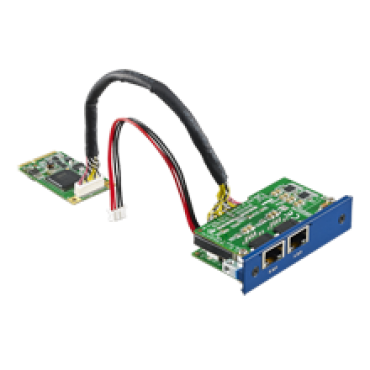 PCM-24R2PE, iDoor rozširujúci modul, 2x Gigabit Ethernet, IEEE 802.3af (PoE), mPCIe, RJ45