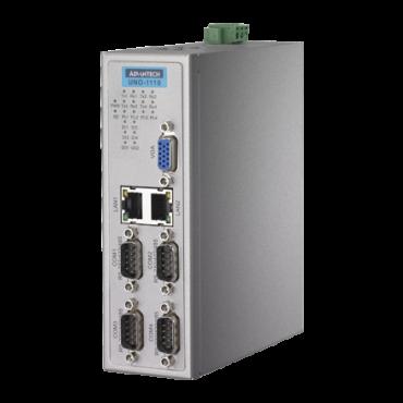 Bezventilátorové PC UNO-1110 TI Cortex AM3505 s 2 x LAN, 5 x COM, 4 x USB na DIN lištu