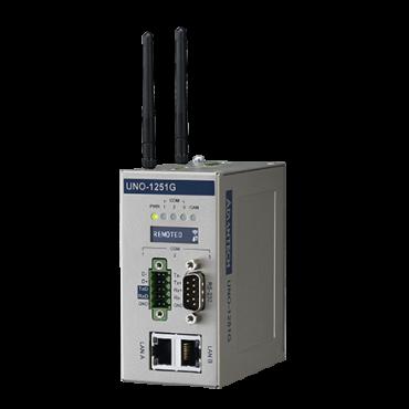 Bezventilátorová IoT brána UNO-1251G Cortex A8 Micro s 2 x LAN, 1 x USB, 1 x CANopen, 3 x COM, 2 x microSD, 1 x micro SIM