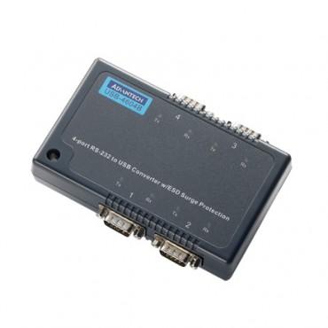 Priemyselný prevodník 4xRS232 USB USB-4604B s ochranou proti elektrostatickému výboju