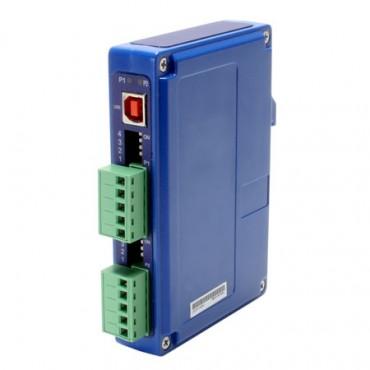 Priemyselný prevodník BB-USOPTL4DR-2, USB na 2x RS-422/485 s izoláciou, na DIN lištu