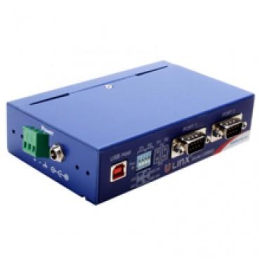 Priemyselný izolovaný prevodník BB-USR602, USB na 2x RS-232/422/485