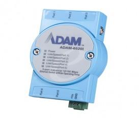 5-portový priemyselný switch ADAM-6520I s EFT/ESD ochranou a rozšírenými pracovnými teplotami