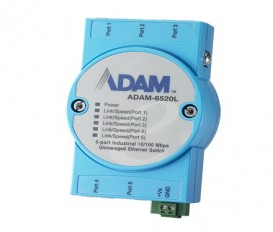 5-portový priemyselný switch ADAM-6520L