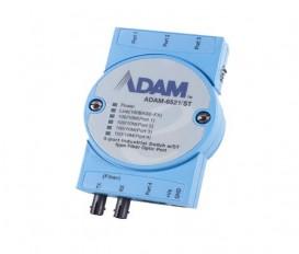 5-portový priemyselný switch ADAM-6521/ST s 1 ST multi-mode optickým portom