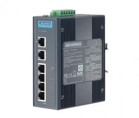 6-portový priemyselný PoE switch EKI-2526PI s rozšírenými pracovnými teplotami