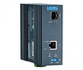 IEEE 802.3af/at gigabitový priemyselný PoE Injector EKI-2741FPI s 1xGE, 1xSFP a rozšírenými pracovnými teplotami
