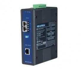 Priemyselný prevodník 1x10/100/1000 RJ45 na 1x1000 single-mode optický konektor EKI-2741LX