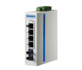 5-portový ProView switch EKI-5525MI-ST s 1 multi-mode ST optickým portom a rozšírenými pracovnými teplotami