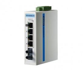 5-portový ProView switch EKI-5525SI-ST s 1 single-mode ST optickým portom a rozšírenými pracovnými teplotami