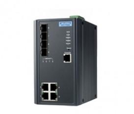 Priemyselný manažovateľný switch EKI-7708E-2FI s 4xFE, 4xSFP a rozšírenými pracovnými teplotami
