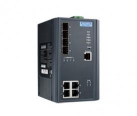 8-portový manažovateľný PoE priemyselný switch EKI-7708E-4FPI s 4xFE, 4xSFP a rozšírenými pracovnými teplotami