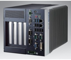 "Bezventilátorové modulárne priemyselné PC MIC-7300, Celeron N3350/Atom x7-E3950, DDR3L, VGA, DVI, 2x GbE, 9x USB, 6x COM, DIO, 1x 2,5"" SATA, 1x MiniPCIe/mSATA, Audio, iDoor, i-Module"