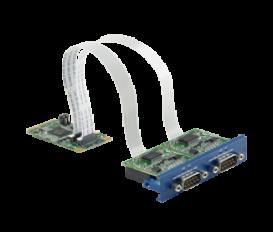 PCM-24D2R2, iDoor rozširujúci modul, 2 izolované porty RS-232, mPCIe, DB9