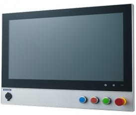 """Bezventilátorový počítač SPC-821 s 21.5"""" dotykovým displejom, zabudovanými tlačidlami, 6. gen. Intel procerorom a IP65 krytím"""