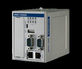 Bezventilátorový IoT kontroler UNO-1252G Intel® Quark X1001 s 2 x LAN, 2 x mPCIe, 2 x COM, 8 x DI/O, 2 x USB, 1 x 1GB microSD card, 1 x SIM