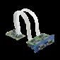 PCM-24D2R4, iDoor rozširujúci modul, 2 izolované porty RS-422/485, mPCIe, DB9
