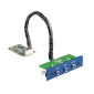 PCM-27J3AU, iDoor rozširujúci modul, 3 porty pre stereo audio, mPCIe, 3.5mm jack