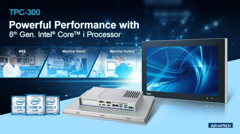 Advantech panelové počítače série TPC-300